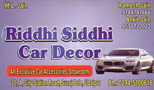 Riddhi Siddhi Car Decor