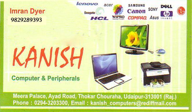 Kanish Computer And Peripherals