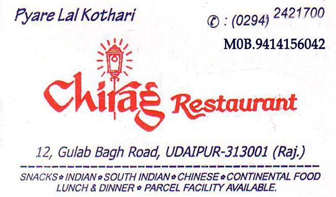 Chirag Restaurent