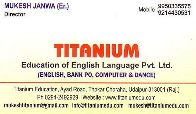 Titanium Education
