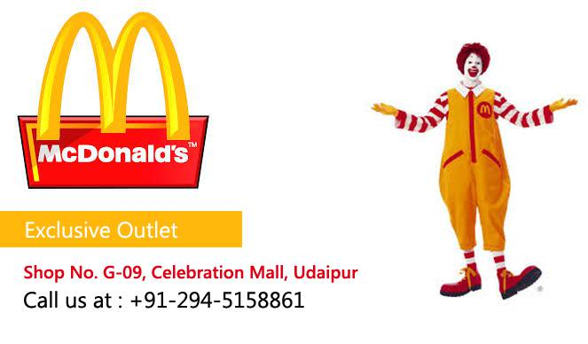 McDonald's | The Celebration Mall Udaipur | Best Shopping Destination in Udaipur | Best Mall in Udaipur