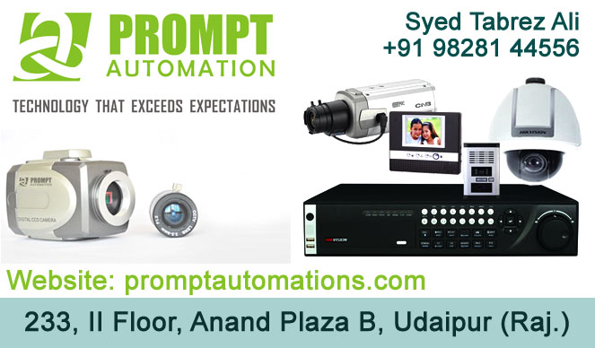 Prompt Automation | Best CCTV Dealers in Udaipur | Security System Udaipur